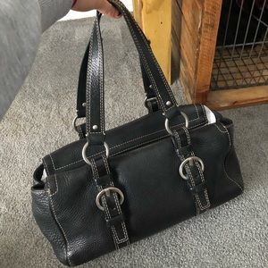 Coach Chelsea Black Pebbled Leather Satchel Bag